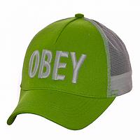 Бейсболка козырек салатовая Obey
