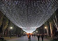 Гирлянда Штора Уличная 2х2 метра 620 led / Premium Curtain IP 65 Световой занавес, Водопад