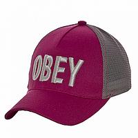 Бейсболка красивая малиновая Obey