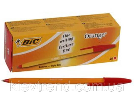 """Ручка кулькова """"BIC"""" Orange червона"""
