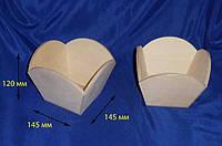 Лоток Конфетница Арка 14,5х14,5х12 см фанера заготовка для декора