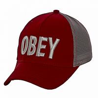 Бейсболка молодежная красная Obey