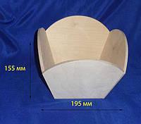Лоток Арка 19,5х19,5х15,5 см фанера заготовка для декора
