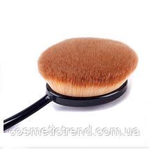 """Набор профессиональных кистей для макияжа """"зубная щетка овал"""" (5 шт) Makeup Oval Toothbrush Set black/gold, фото 2"""