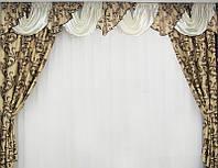 Красивые шторы и ламбрекен для спальни