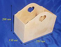 Короб с сердечком 25х13х20 см фанера заготовка для декора