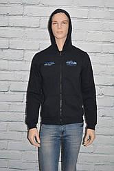 Спортивная кофта (толстовка) мужская с капюшоном черная р. M Украина
