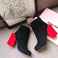 Новинка 2017! Женские  ботинки Miu-miu бренд количество ограниченно