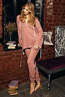 Спортивный / прогулочный  костюм из ангоры розового цвета