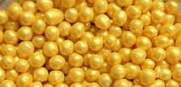 """Рисовые шарики для кондитерских изделий """"Жемчуг золотой перламутровый"""", 3 мм, 20 г"""