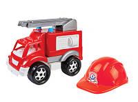 """Детский  игрушечный набор  """"  Пожарник """" , пожарная машина + каска"""