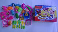"""Набор игрушечной посуды и продуктов """"Coocing Kichen Utensils"""" в коробке 250*190*65мм.Набір дитячого посуду  та"""