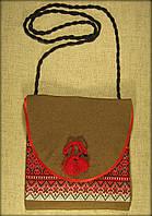 Сумка в етно стилі коричнева