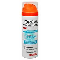 L'Oreal Men Expert пена для бритья Sensitive, 200 мл