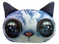 Мягкая игрушка антистресс Кот глазастик серый