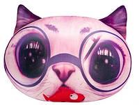 Мягкая игрушка антистресс Кот глазастик розовый