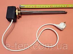 """Тен для чавунної батареї 800 W (нержавейка) на різьбі 1 1/4"""" (42мм) з ЦИФРОВИМ терморегулятором DALAS 3кВт"""