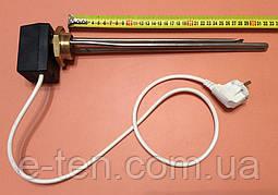 """Тен для чавунної батареї 1000 W (нержавейка) на різьбі 1 1/4"""" (42мм) з ЦИФРОВИМ терморегулятором DALAS 3кВт"""