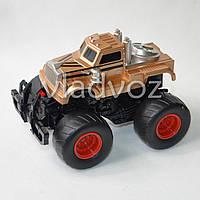 Машинка инерционная Джип монстр бронза 14 см.