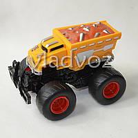 Машинка инерционная Джип монстр оранжевый 14 см.