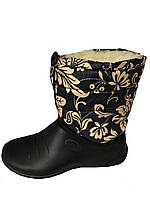 """Женские дутики золотые цветы """"TS Shoes"""""""