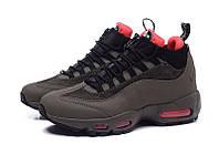 Кроссовки зимние Nike Air Max 95 Sneakerboot (найк аир макс 95 снейкербут) коричневые, зимние найки