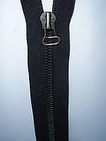 Молния металлическая riri 62 см черная тесьма черненое звено, тип 8