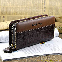 Baellerry business - мужское кожаное портмоне клатч + подарок (нож кредитка и мультитул)