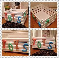 Деревянный ящик для детских игрушек,ручной работы