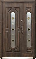 Входная дверь 240 + (нестандарт 1200, витраж)