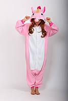 Пижама-кигуруми единорог розового цвета