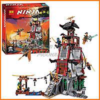 "Конструктор Bela Ninja 10528   Lepin (аналог Lego Ninjago 70594) ""Осада маяка"" 815 дет"