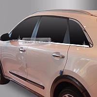Kia Niro 2016-18 хромовые молдинги на двери под окна новые Made in Korea
