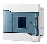 Lezard Бокс с прозрачной крышкой ЩРВ-П-4 для внутренней установки 4-х модульных устройств