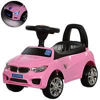 Каталка-толокар BMW музыкальная M 3147B-8 Bambi, розовый
