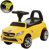 Каталка-толокар Mercedes музыкальная M 3147C-6 Bambi, желтый