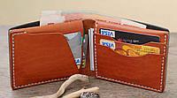 """Шкіряний гаманець """"Сod"""" мужской кожаный кошелек ручної роботи, натуральна шкіра, фото 1"""