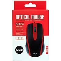 Мышь HAVIT HV-MS753 USB, black/red