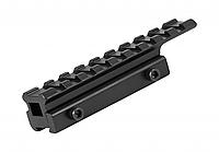 Планка на ласточкин хвост с базой 11-13 мм.