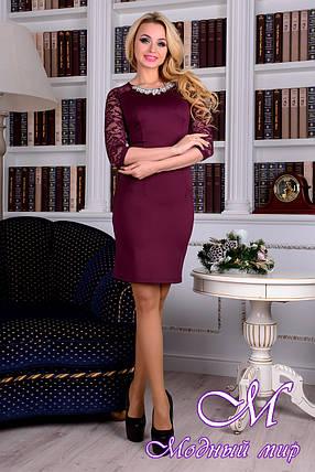 Изысканное женское фиолетовое платье 88364 (р. S, M, L) арт. 8904, фото 2