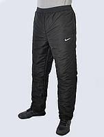 Брюки мужские Nike зима плащёвка больших размеров - (41-345)