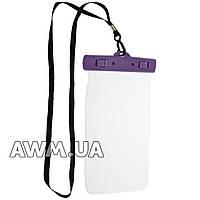"""Водонепроницаемый чехол для телефона до 5,5"""" фиолетовый"""