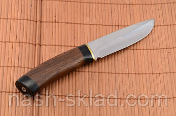 Нож охотничий  рукоять Венге, кожаный чехол в комплекте, фото 2