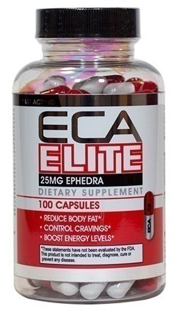 Hard Rock, Eca Elite, 25mg Ephedra, 100 капсул