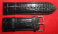 Ремешок кожаный Modeno черный для часов 30 мм.