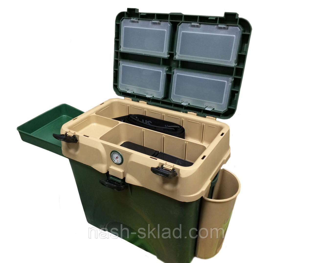 Ящик для зимней рыбалки с термометром, очень теплый верх, большая вместительность - Наш Склад в Киеве