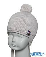 Детская теплая вязанная шапочка для мальчика от BARBARAS Польша 1ce7fbc1d151e