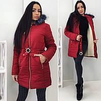 """Зимняя курточка Ткань : плотная плащевка """" аляска """" ,Цвет 3 :черный , оливковый , темно вишневый роле №2074"""