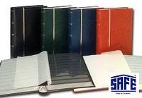Кляссер SAFE - альбом для марок - 60 страниц - А4 - чёрные листы - синяя обложка