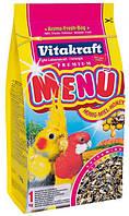 Vitakraft Menu Vital Complex для средних попугаев с медом 1кг (21003)